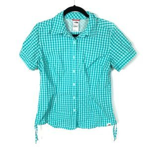 The North Face Button Hiking Shirt Plaid Vented M